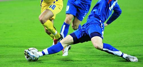 Fussballer während eines Spiels