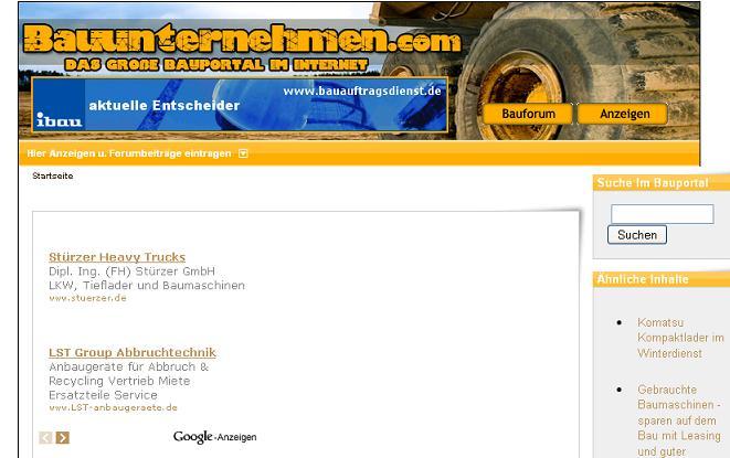 Mehr Infos zu Baumaschinen gibt es bei www.bauunternehmen.com