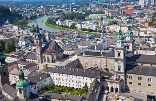 Sicht auf eine österreichische Stadt