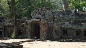 Der von der Vegetation überwucherte Tempel Ta Prohm.