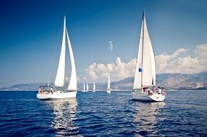 Segelyachten auf dem Meer