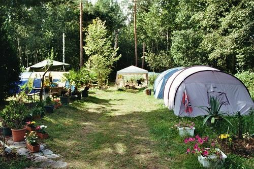Campen im Garten