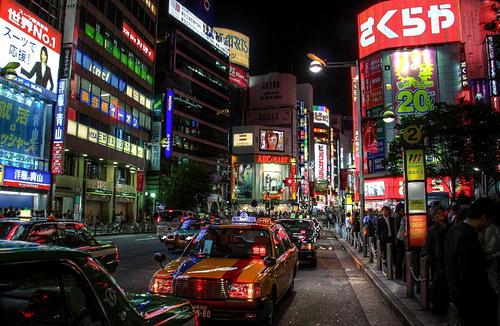 Nachtleben in Tokio