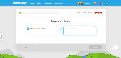 Duolingo Website