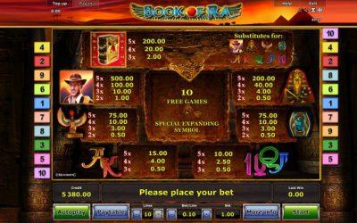 Book Of Ra spielen: Der Automatenklassiker als Onlineversion