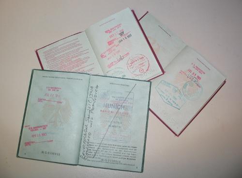 Einreise-, Ausreisestempel, Visum ...